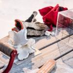 Modell und Werkzeuge für das snowsculpting