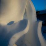 Detail der Schneeskulptur