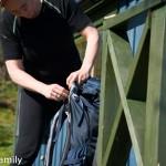 Rucksack beim Packen
