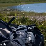 Rucksack in Lappland