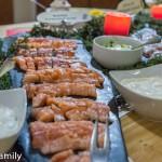 Norwegisches Buffet in Venabu Fischtheke