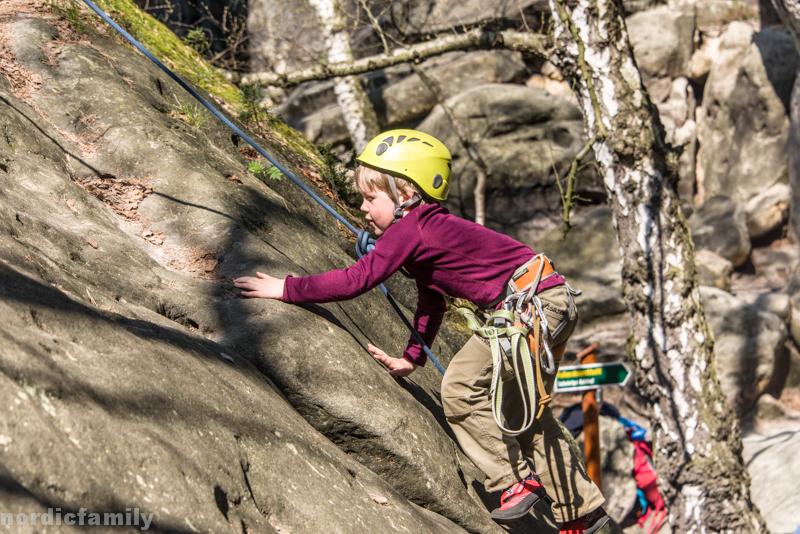 Klettern im Elbsandsteingebirge mit Kindern