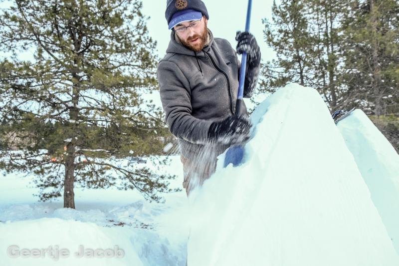 Snowsculpting beim Silverskate Festival