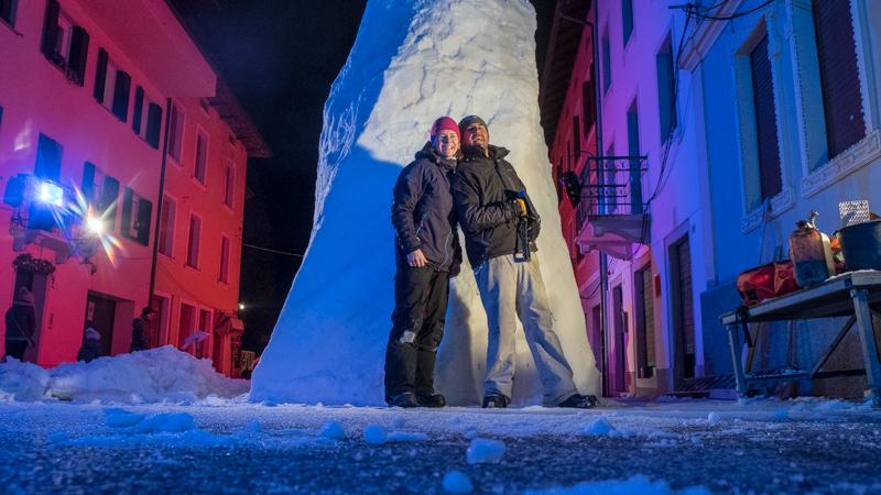 Schneeskulptur in Pontebba