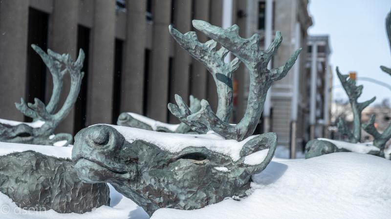 Snowcarving beim Festival du Voyageur in Winnipeg
