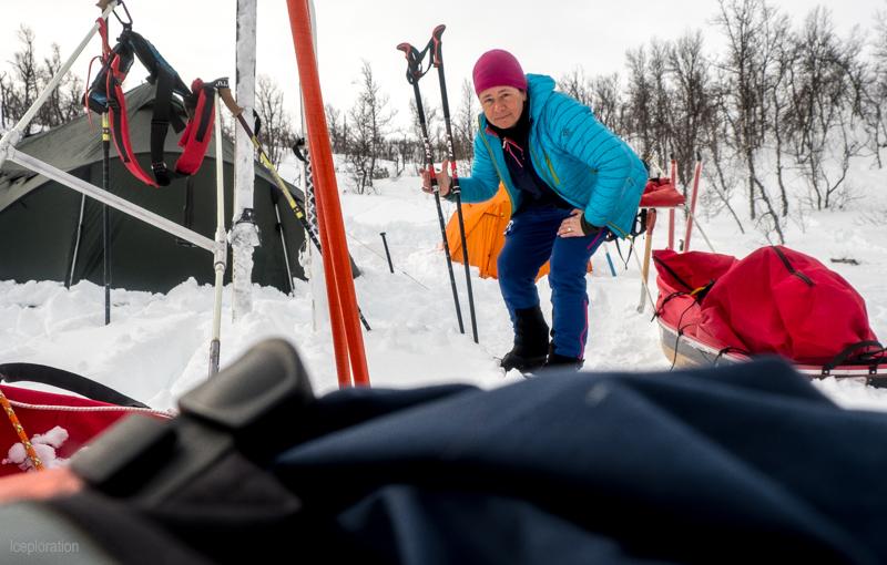Camp in der Hardangervidda