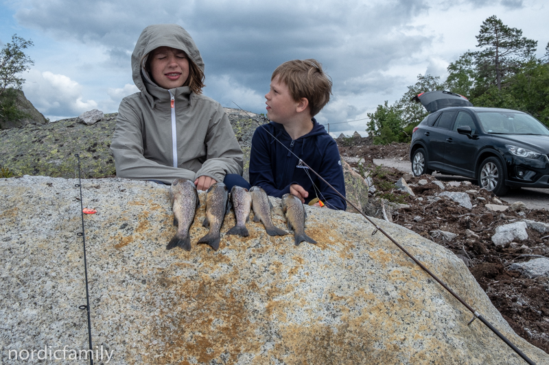 mit Kids in Eikerapen angeln
