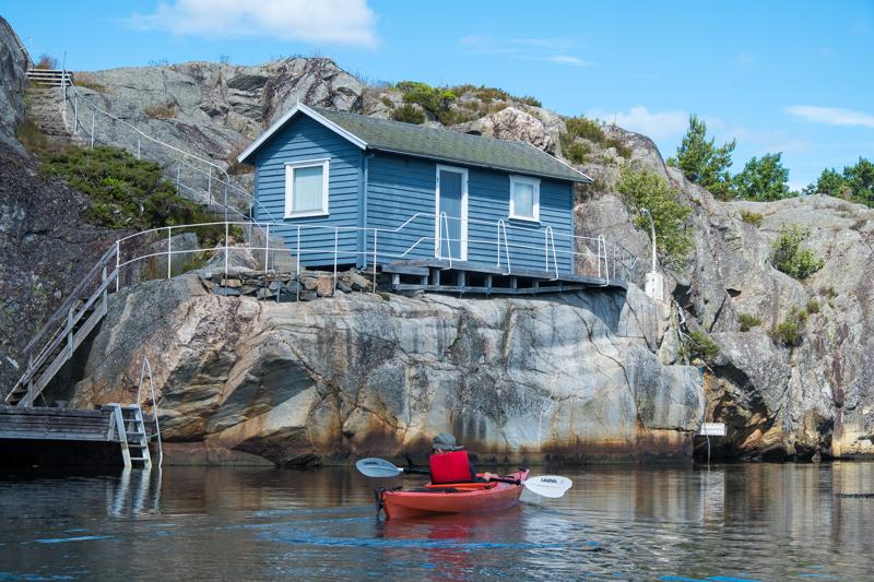 norwegische Küste Kajak