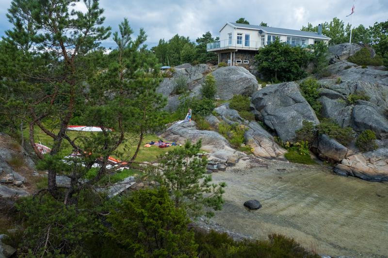 norwegische Küste Ekerne Bucht