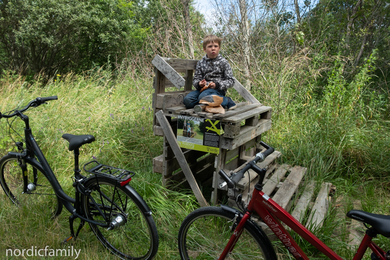Pause beim Fahrrad-Ausflug Vejle und Umgebung