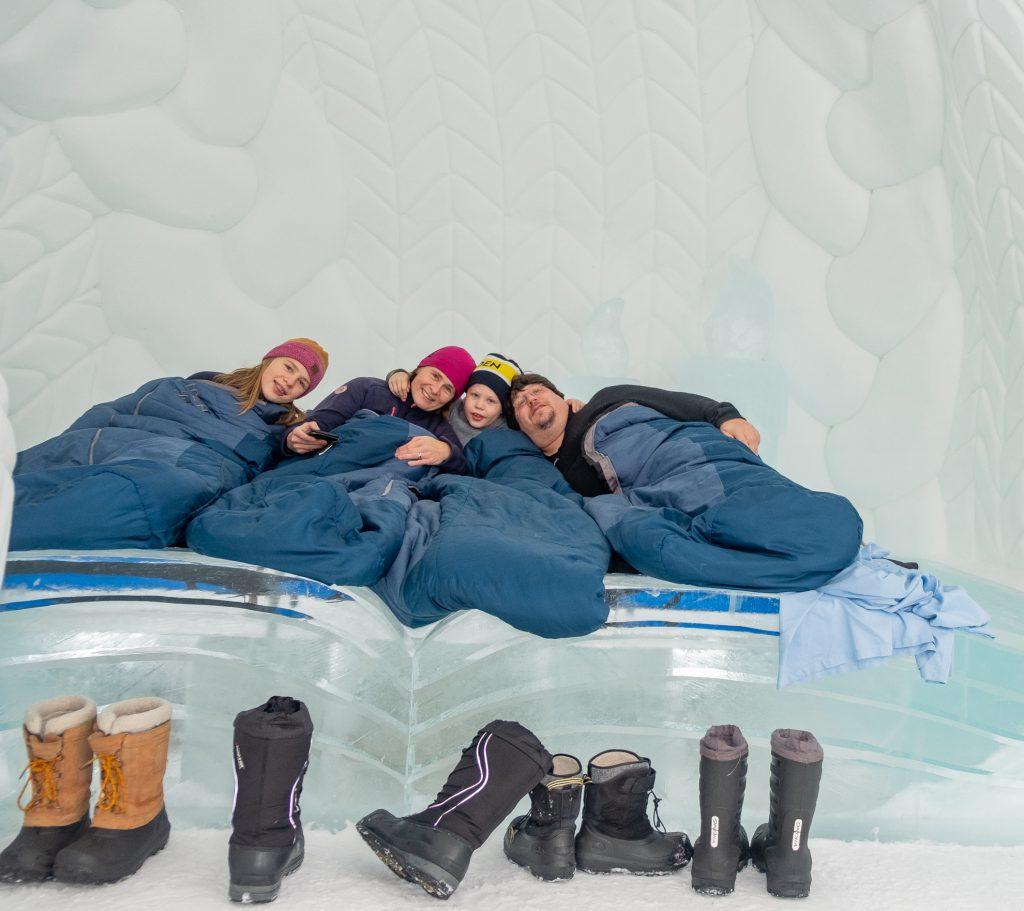 Icehotel mit Familie, Warm Up