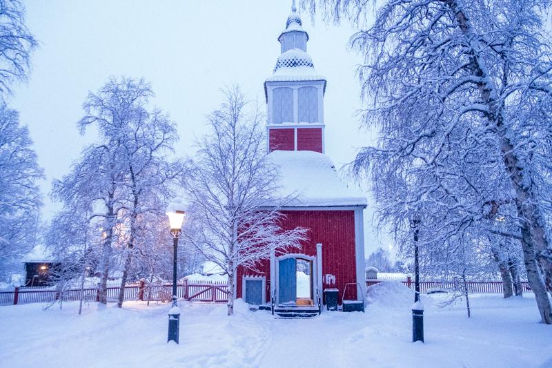 Kirche in Jukkasjärvi