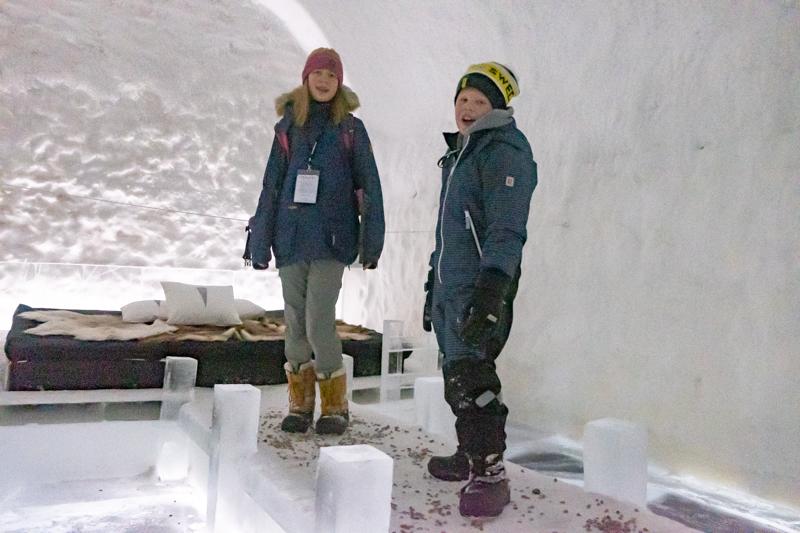 Icehotel mit Familie