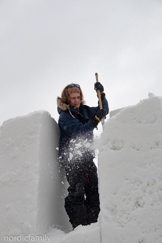 Snowsculpting Geertje
