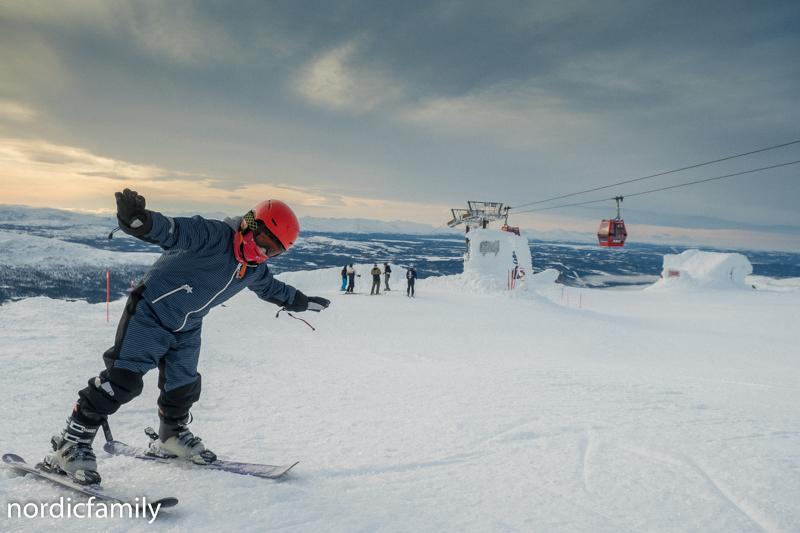 Åre Skutan mit Skiern abfahren