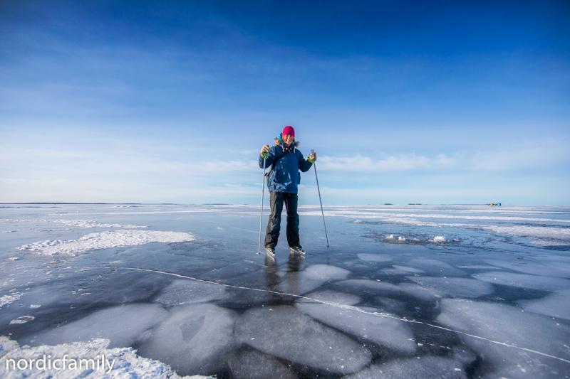 Oulu im Winter iceskating
