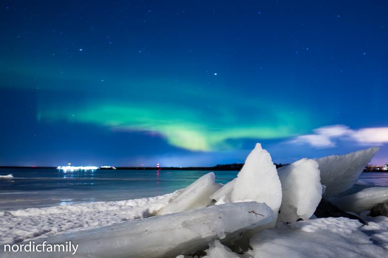 Snowfest in Nallikari polarlicht