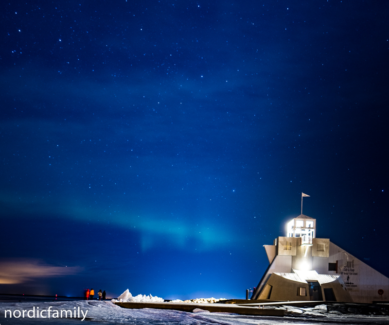 Snowfest in Nallikari  nordlicht