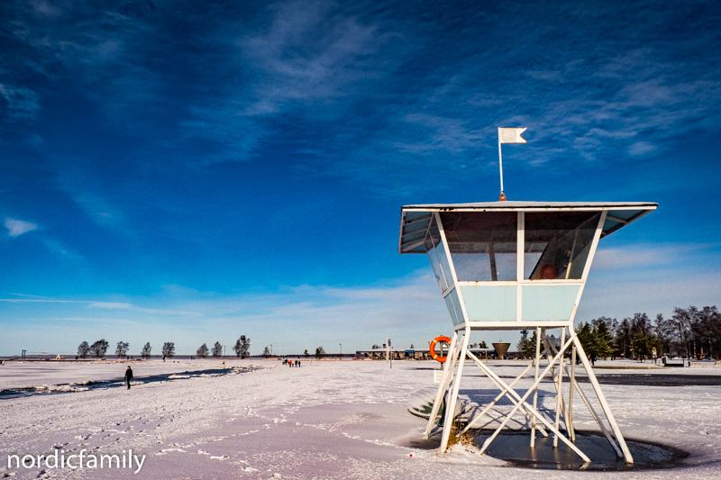 Oulu im Winter nallikari