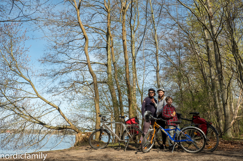 Fahrradweg F6 rund um Potsdam mit Kindern Templiner See