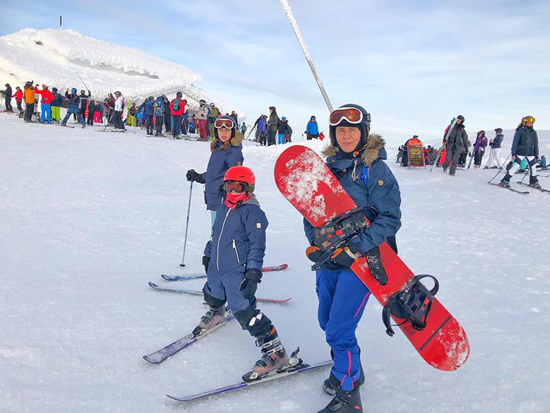 Åre Skutan Aussicht Ski und Snowboard