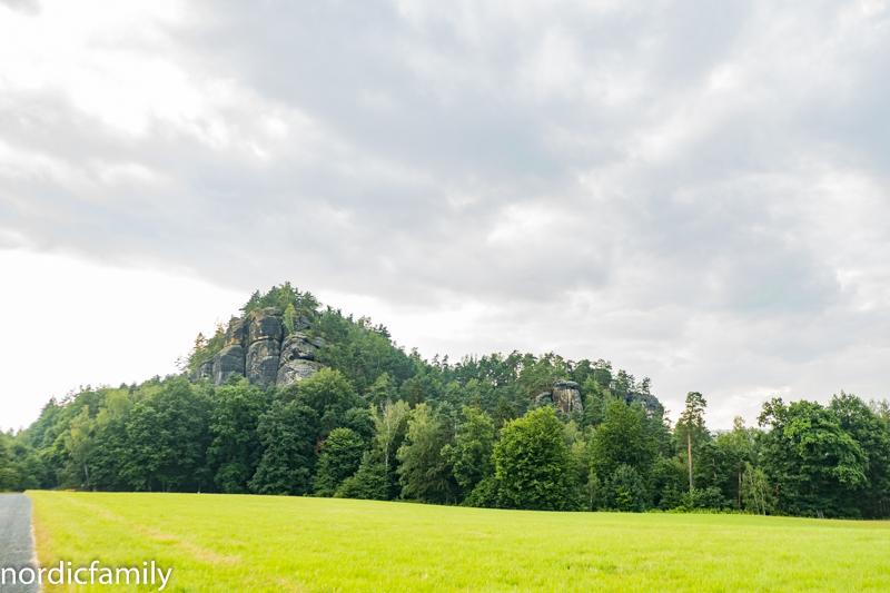 Klettern im Elbsandsteingebirge am Morgen
