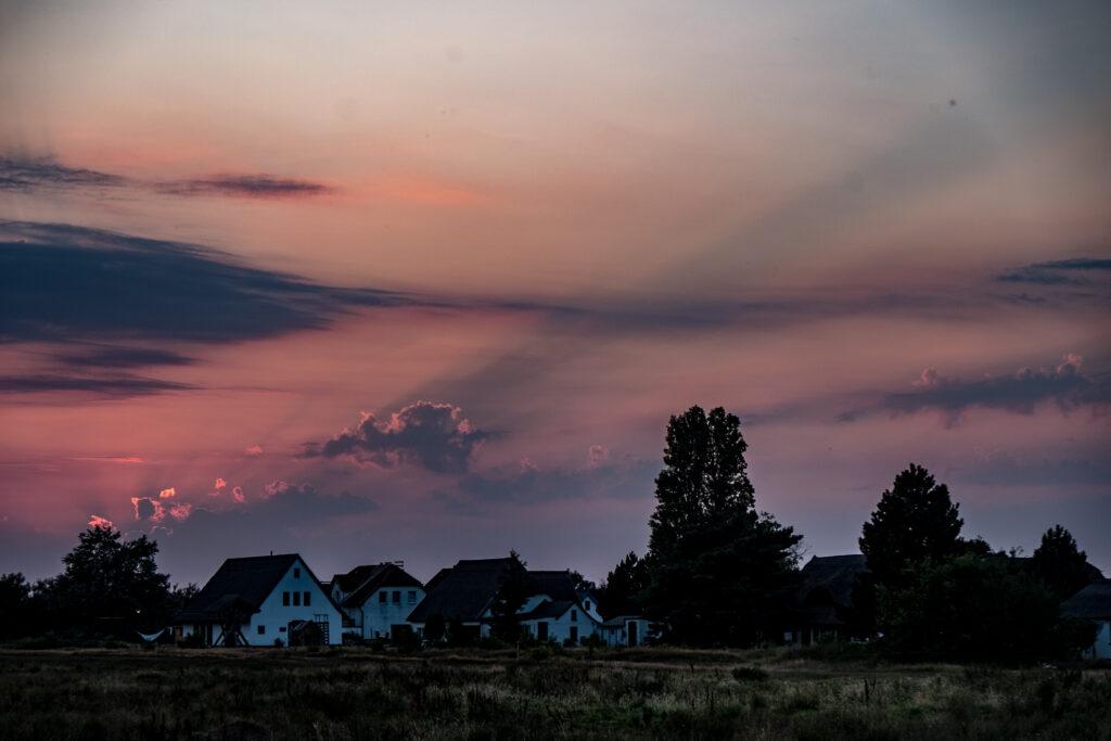 Hiddensee segeln sunset