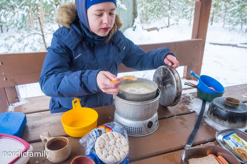 Winterausflug Hoher Fläming  Picknick