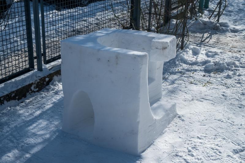 Schneeskulpturen in Potsdam Mini Format