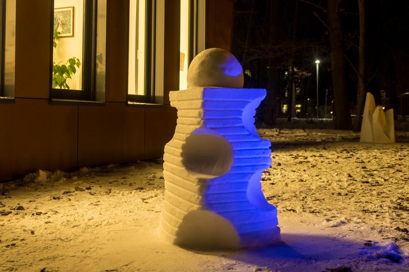 Schneeskulpturen in Potsdam Anna Laura Jacobi