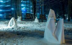Schneeskulpturen Potsdam Skulpturengarten