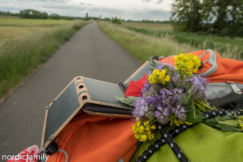 Solarpaneel für Outdoor Radtour