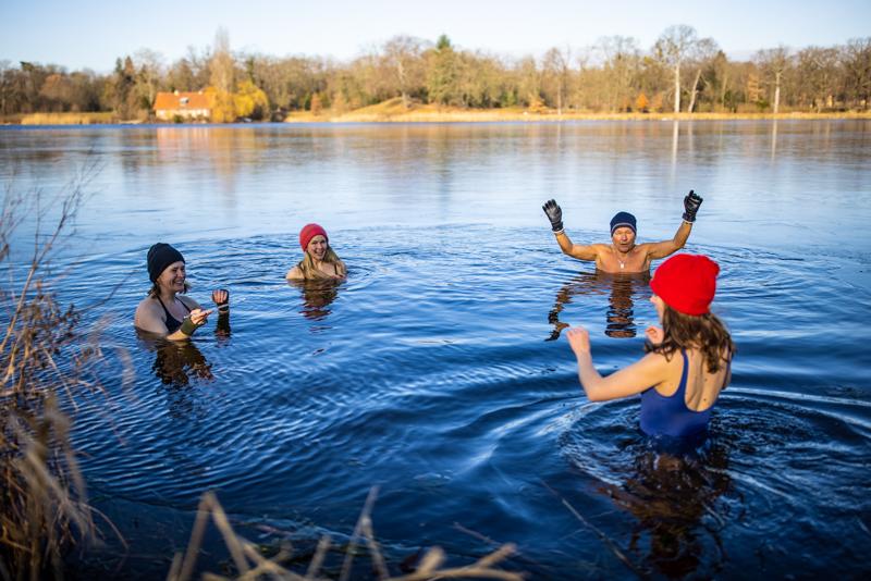 Eisbaden in Potsdam