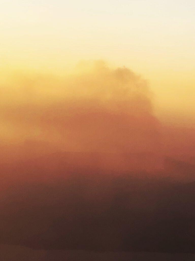 Vulkan in Island aus dem Flugzeug
