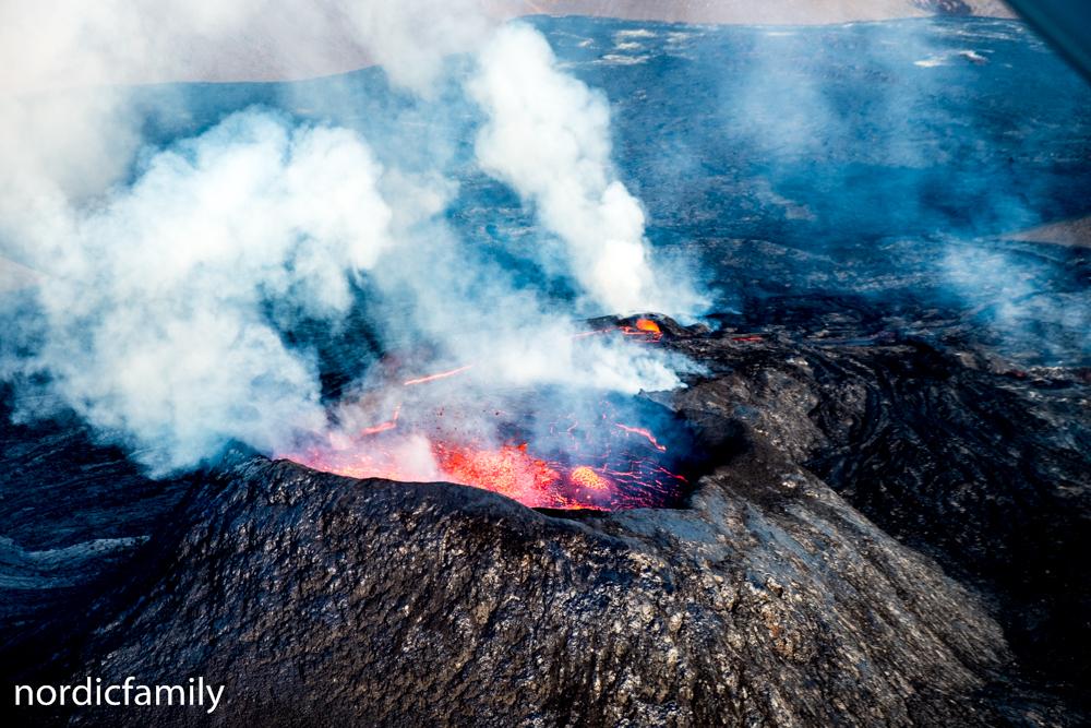 Vulkan in Island Krater