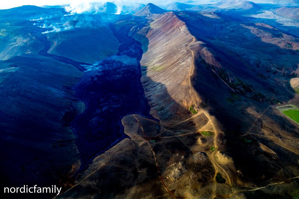 Vulkan in Island von oben
