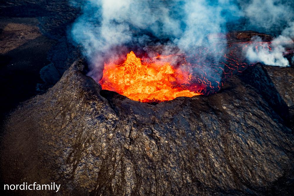 Vulkan in Island Krater von oben