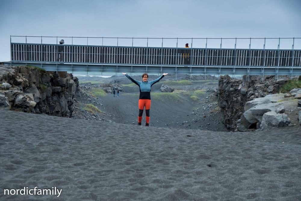 Reykjanes Sightseeing Brücke zwischen den Kontinenten
