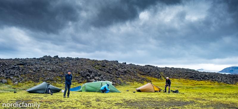 Gletscher in Island - Zeltstelle