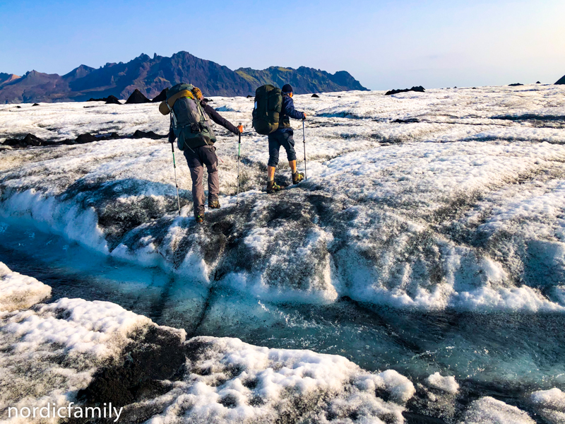 Gletscher Fluss in Island