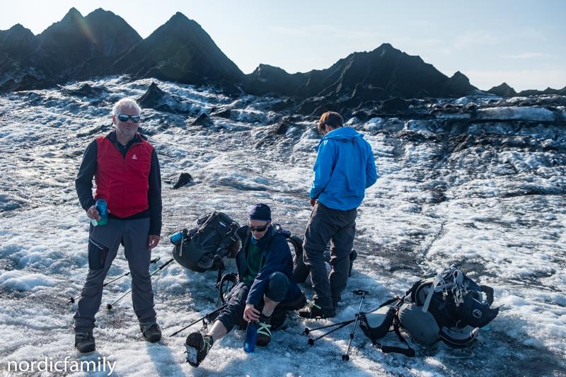 Skeidarajökull Pause auf dem Gletscher in Island