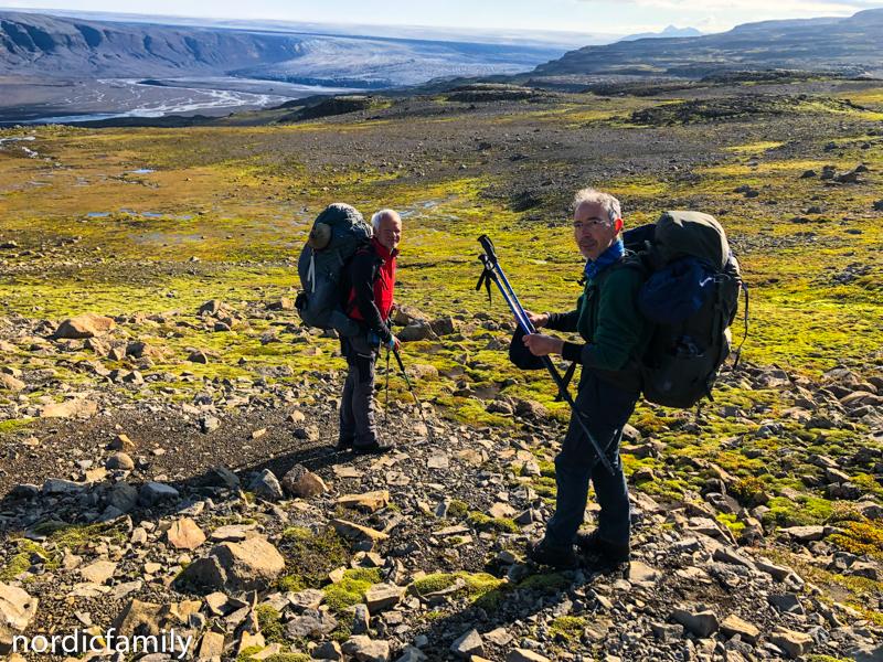 Gletscher in Island - auf dem Weg