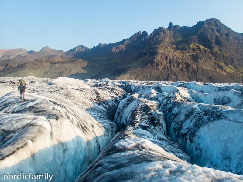 Gletscher in Island - Randzone Spalten
