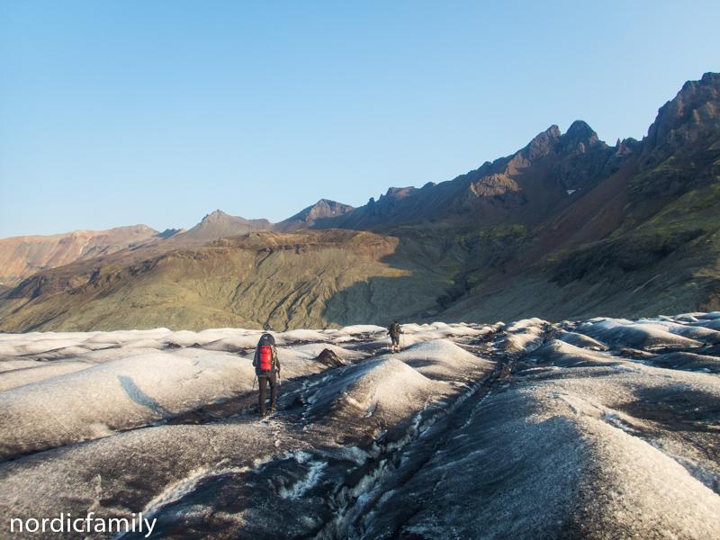Zieleinlauf Gletscher in Island